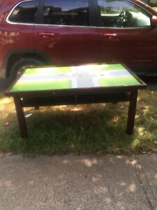 Kids table with street scape