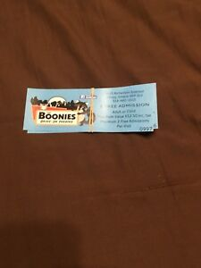 BOONIES DRIVE IN TICKETS