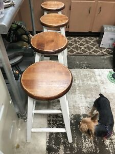 Four bar height stools.