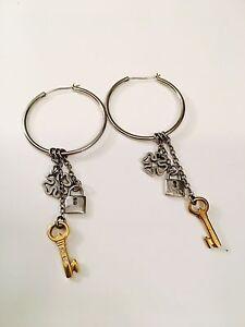 Miss sixty hoop earrings with diamond dust
