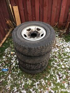 Gmc 8 Bolt rims and tires 4