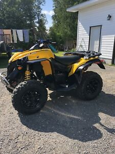 Immaculate 2014 can am renegade 1000 1500 km with plow