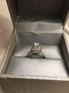 Peoples double halo custom Engagement ring