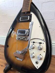 60s Japanese Teardrop Semi-hollow Guitar w/ Rickenbacker pickups Marrickville Area Preview