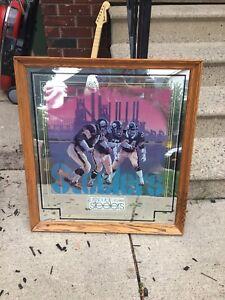 Framed Pittsburg Steelers mirror