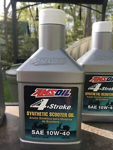 Amsoil 4 stroke synthetic scooter oil