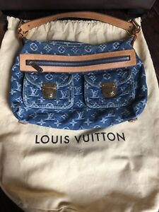 Authentic Vintage Louis Vuitton Baggy PM Denim Shoulder Bag