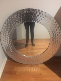 Wanted: Freedom Silver round mirror