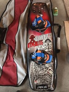 Hyperlite wakeboard, rope, handle, helmet