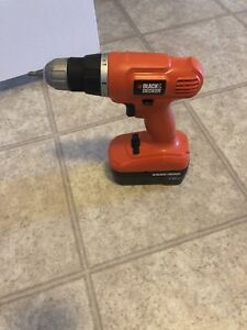 Black and decker powerr drill