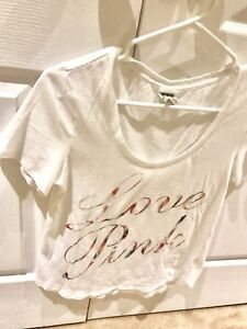 VS PINK LOVE PINK Logo T-Shirt (Perfect, Fresh Washed)