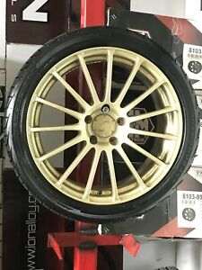 "18"" gold rims package"