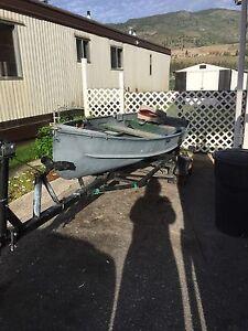 12' aluminum boat and trailer