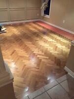 Warranty covered Hardwood and Laminate flooring installation
