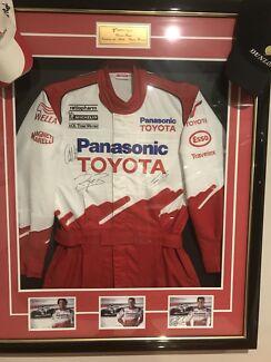 Framed Toyota Formula 1 signed Race Suit