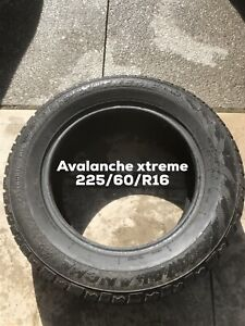 2 Avalanche x-treme winter tires. 225/60/R16