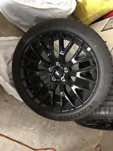 2019 Ford Mustang rims and tires.