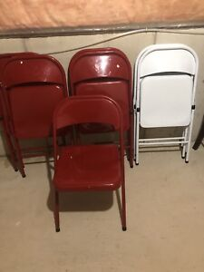 Steel chairs (9)