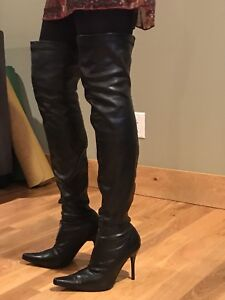 'Spicy' Thigh high leather boots