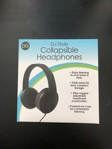 Collapsible DJ style headphones