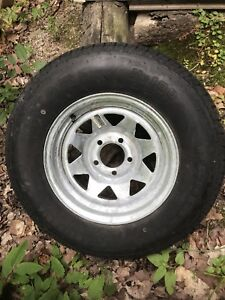 Galvanized Rim and trailer tire