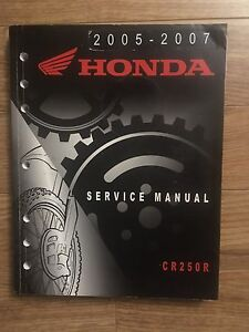 Honda CR250 Service manual