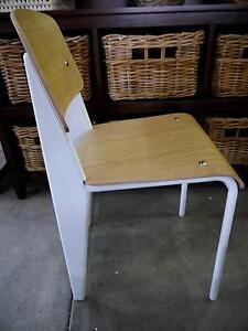 New White Metal Timber Replica Standard Jean Prouve Dining Chairs Melbourne CBD Melbourne City Preview