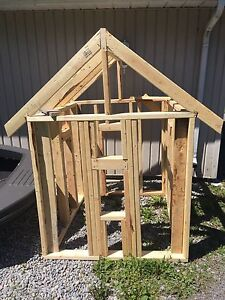 Wooden frame structure for play house/dog house
