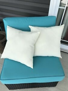 Two patio cushions