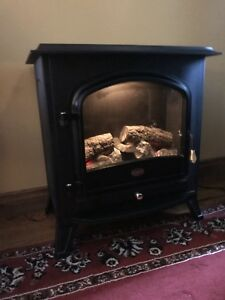 Beautiful large faux wood stove electric looks real