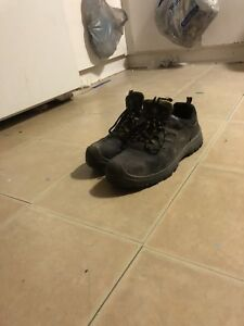 Two pairs of steel toe boots  size 12
