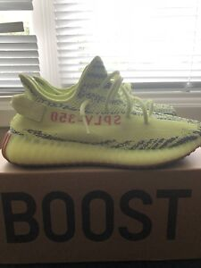 "Yeezy Boost v2 ""Semi-Frozen Yellow"" Size 10"