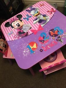 Disney Minnie Mouse Kids Table & Chairs