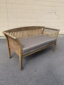 Decorative SOLD timber outdoor cushioned bench chair seat