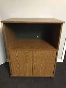 Oak Microwave/TV stand on rollers - Make me an OFFER