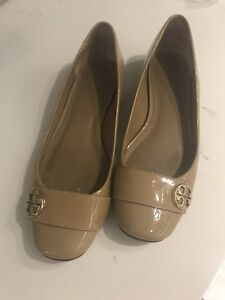 a920cddc70b4 Tory Burch patent tan leather flats - size 8