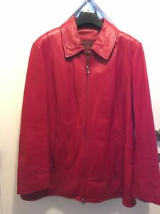 Danier red leather jacket with zip out lining
