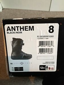 Boys size 8 snowboarding boots