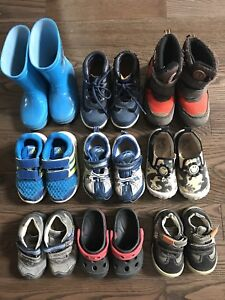 9 pairs of toddler shoes - $20