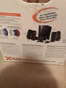 Logitech x-540 5.1 speakers with subwoofer