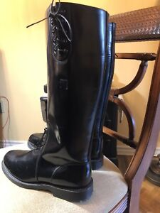 Men's Chippewa Leather Trooper Slip On 17in Tall Boots