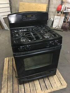 *** GE Profile 30 Gas Stove *** Black - Barely Used