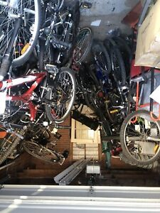 About 60 bikes bought from a police auction $15