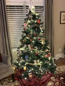 Gluckstein Home 7' Pre-Lit Oregon Pine Artificial Christmas Tree