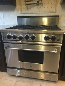"Bluestar 36"" range gaz cooktop and gaz oven - 6 burners!!"