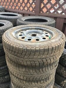195 55R15 Michelin Xice winter tires & 4 bolt Gm wheels