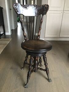 Rare antique organ chair