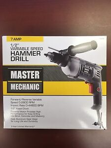 Master Mechanic 7A variable speed Hammer Drill