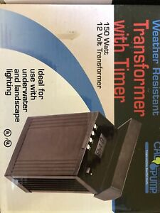 150 watt 12V outdoor garden or underwater lighting transformer