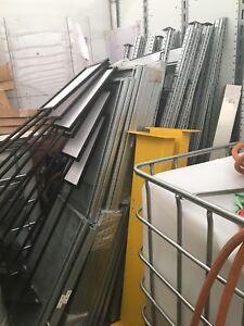 Metal shelving, industrial